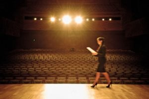 When you take the stage, choose a topic you are uniquely qualified to address