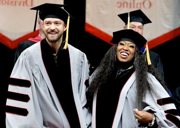 Justin Timberlake & Missy Elliott Receive Honorary Doctorates at Berkley
