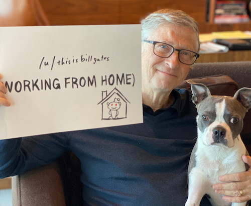 Bill Gates Working from Home in 2020