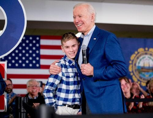 Brayden Harrington with President elect Joe Biden
