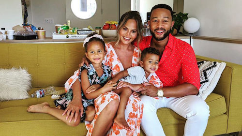 Authentic People Chrissy Teigen with Family