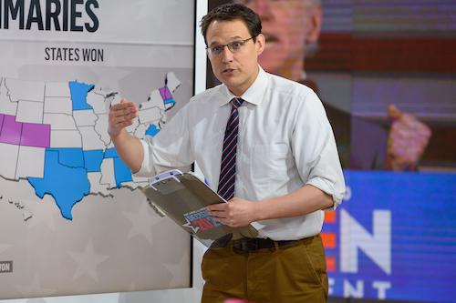 Steve Kornacki in the Newsroom