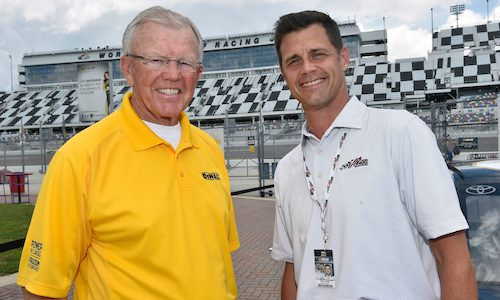 Coach Gibbs and Dave Alpern of Joe Gibbs Racing