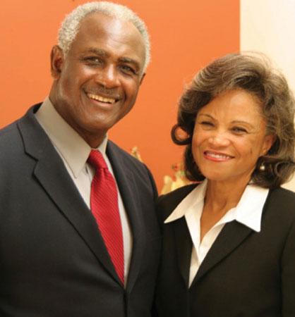 Harvey Gantt with wife Cindy